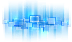 Techniki błękitny tło Obraz Stock