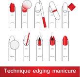 Techniki obdziergania nie manicure Europejski manicure Walkthrough Fotografia Royalty Free