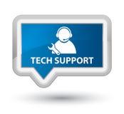 Techniki poparcia sztandaru pierwszorzędny błękitny guzik Obraz Stock