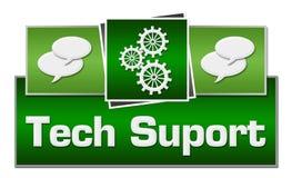 Techniki poparcia zieleni kwadraty Na wierzchołku Zdjęcie Royalty Free