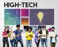 techniki technologii cyberprzestrzeni sieci pojęcie Zdjęcie Stock