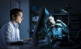 Technikteam, das im Labor arbeitet Stockfoto