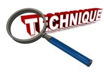 Technique illustration stock