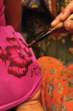 Technique of Batik painting Stock Images