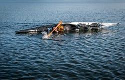 Technique 3 de roulement de kayak Photos stock