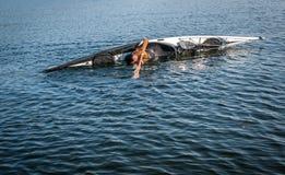 Technique 4 de roulement de kayak Photos libres de droits