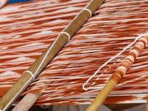 Technique de tissage IKAT, Equateur de Ttraditional photographie stock