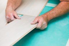 Technique en stratifié de plancher photographie stock