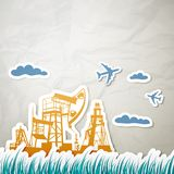 Technique for oil in a landscape Royalty Free Stock Image