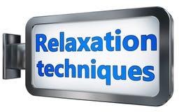 Techniques de relaxation sur le panneau d'affichage illustration de vecteur