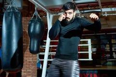 Techniques puissantes de formation de boxeur image libre de droits