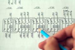 Technisch ontwerp Stock Fotografie