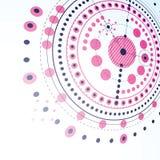 Technisch plan, magenta abstract techniekontwerp Royalty-vrije Stock Afbeelding