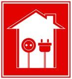 Technisch symbool van elektriciteit Royalty-vrije Stock Afbeelding