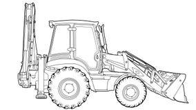 Technisch trek van tractor Royalty-vrije Stock Afbeelding