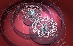 Technische achtergrond: tandraderen Royalty-vrije Stock Afbeelding