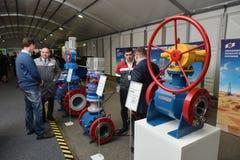 Technische Ausstellung von Produkten der Unternehmen der metallurgischen und Maschine-bildenden Komplexe ` Russlands PJSC des Ene lizenzfreie stockfotos