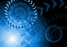 Technische blaue Auslegung Stockbild