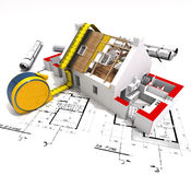 Technische bouw Royalty-vrije Stock Afbeelding