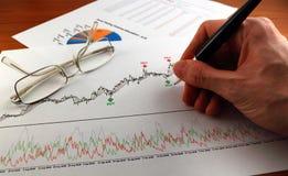 Technische en fundamentele analyse Royalty-vrije Stock Fotografie