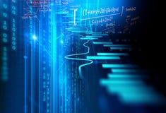 Technische financiële grafiek op technologie abstracte achtergrond Stock Fotografie