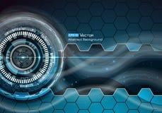 Technische futuristische achtergrond 3 Vector Illustratie