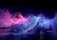 Technische Futuristische Grafiek Royalty-vrije Stock Afbeeldingen