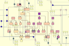 Technische illustratie   Stock Foto