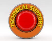Technische ondersteuning 3d teken Royalty-vrije Stock Afbeelding