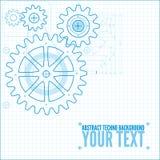 Technische Planillustration Lizenzfreies Stockfoto