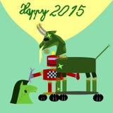 Technische robot die de dienst tot groene geit maken royalty-vrije illustratie