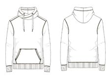 Technische schets van mensensweatshirt in vector royalty-vrije stock fotografie