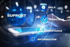 Technische Steun Klantenhulp Bedrijfs en technologieconcept royalty-vrije stock afbeeldingen