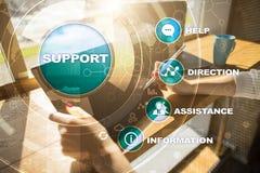 Technische Steun Klantenhulp Bedrijfs en technologieconcept royalty-vrije stock afbeelding