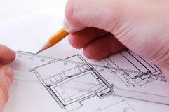 Technische tekening Stock Foto