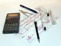 Technische tekening Stock Foto's