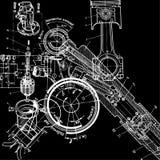 Technische tekening stock illustratie