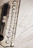 Technische tekening Royalty-vrije Stock Fotografie