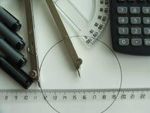 Technische tekeningsles Stock Fotografie