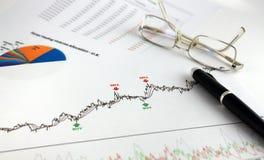 Technische und grundlegende Analyse Lizenzfreies Stockbild