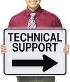 Technische Unterstützung auf diese Weise Lizenzfreies Stockbild