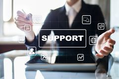 Technische Unterstützung und Kundendienst Geschäfts- und Technologiekonzept stockfotografie