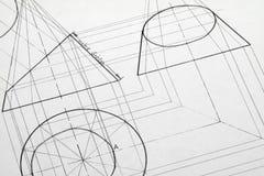 Technische Zeichnung Stockfoto
