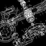 Technische Zeichnung Stockbild
