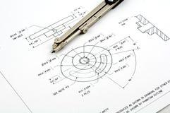 Technische Zeichnung Lizenzfreies Stockbild