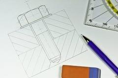 Technische Zeichnung Lizenzfreie Stockbilder