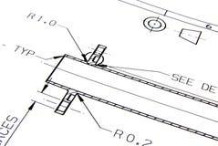 Technische Zeichnung Lizenzfreie Stockfotos