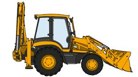 Technischer abgehobener Betrag des Traktors Lizenzfreie Stockbilder