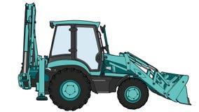 Technischer abgehobener Betrag des Traktors Stockbilder