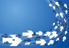 Technischer Hintergrund auf Blau Lizenzfreie Stockfotos